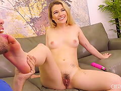 Abby Adams likes to play with sex toys and ride rock hard cocks