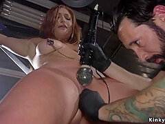 Natural busty babe anal fucked bdsm